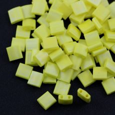 Miyuki Tila Beads 5x5x1,9mm Opaque Yellow AB Matted [30szt]