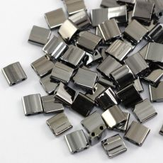 Miyuki Tila Beads 5x5x1,9mm Black Full Chrome [30szt]