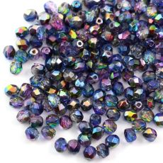 Fire Polish 4mm Crystal Magic Blue [20szt]