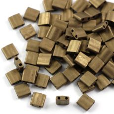 Miyuki Tila Beads 5x5x1,9mm Metallic Dark Bronze Matted [30szt]