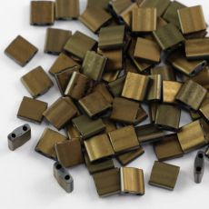 Miyuki Tila Beads 5x5x1,9mm Black Valentinite Full Matted [30szt]