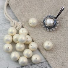 Miyuki Cotton Pearls Rich Cream kula 8mm