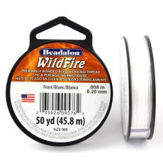 Beadalon Wildfire nić żyłkowa White 0,20mm / 46m