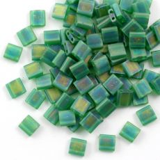 Miyuki Tila Beads 5x5x1,9mm Transparent Green Matted [30szt]