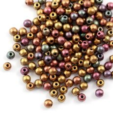 Round Beads Ancient Gold 3mm [50szt]