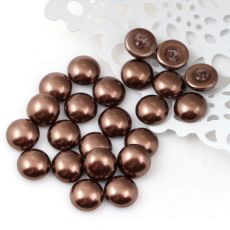 Glass Pearl Cabochon Dark Copper 10mm