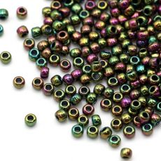 Toho Round 8/0 Higher-Metallic Purple/Green Iris [10g]