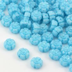 Flower Beads Primula Light Turquoise Blue 8x5mm [10szt]