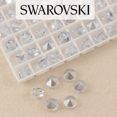 5062 Swarovski Blue Shade Round Spike Bead 5,5mm - 1 hole [2szt]