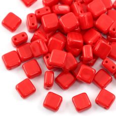 Square 6x6mm Opaque Red [10szt]