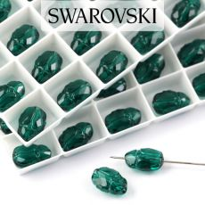 5728 Swarovski Scarab Bead 12mm Emerald