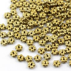 Mini Flower Beads Crystal Amber Full 5mm [50szt]