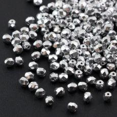 Fire Polish 3mm Crystal Labrador Full [40szt]