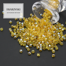 5328 Swarovski Xilion Bead 4mm Light Topaz Shimmer [6szt]