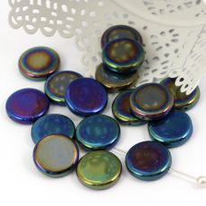 Coin Jet Blue Iris moneta 17mm