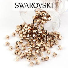 5328 Swarovski Xilion Bead 4mm Metallic Rose Gold [6szt]