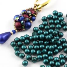 Round Beads Velvet Emerald 4mm [50szt]