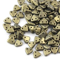 Triangle 6mm Metallic Suede Gold [40szt]