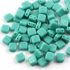 Square 6x6mm Turquoise Green Opaque [10szt]