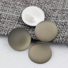 Kaboszon Lunasoft moneta silver grey 18mm