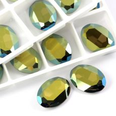 4127 Swarovski Oval Fancy Stones 30x22mm Iridescent Green