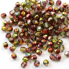 Fire Polish 4mm Crystal Magic Apple [20szt]