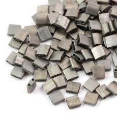 Miyuki Tila Beads 5x5x1,9mm Crystal Chrome Full Matted [30szt]