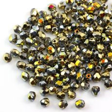 Fire Polish 4mm Crystal California Sunshine [20szt]
