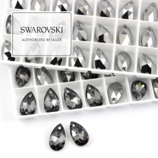 6106 Swarovski Pear-shaped Pendant 16mm Silver Night