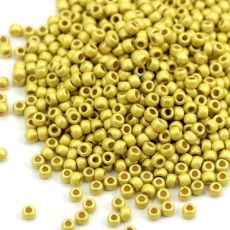 Toho Round 8/0 Permafinish - Matte Galvanized Yellow Gold [10g]