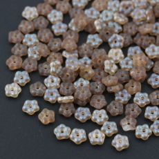 Mini Flower Beads Crystal Celsian Matted 5mm [50szt]