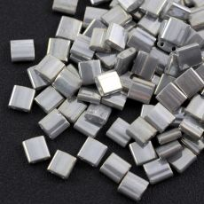 Miyuki Tila Beads 5x5x1,9mm Opaque Smoke Grey Lustered [30szt]