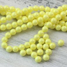 Shiny Alabaster Pastel Yellow kula 8mm [10szt]