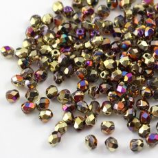 Fire Polish 4mm Crystal California Violet [20szt]