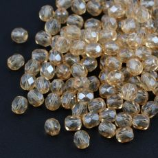Fire Polish 6mm Crystal Champagne Luster [20szt]