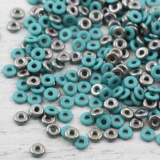 O bead donut 4x1mm Jade Chrome [2,5g]