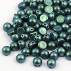 CzechMates Cabochon 7mm Polychrome Teal [10szt]