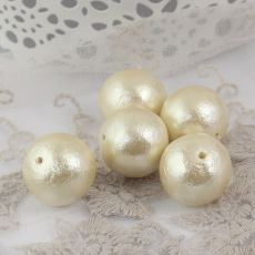 Miyuki Cotton Pearls Off White kula 20mm