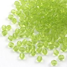 Fire Polish 4mm Olivine Light [20szt]