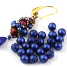 Round Beads Velvet Suede Blue 6mm [20szt]
