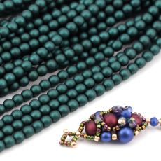 Round Beads Velvet Emerald 4mm [sznur/120szt]