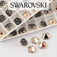 5062 Swarovski Rose Gold Round Spike Bead 7,5mm - 2 hole [2szt]
