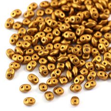 SuperDuo 2.5x5mm Matte Metallic Goldenrod [10g]