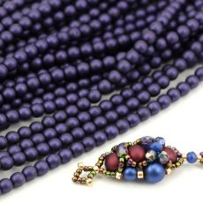 Round Beads Velvet Sugar Plum 4mm [sznur/120szt]