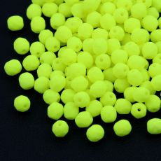 Fire Polish 4mm Alabaster Neon Yellow [20szt]