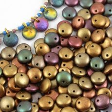 Lentil Beads Ancient Gold 8mm [20szt]