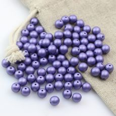 Round Beads Alabaster Pansy Violet 6mm [10szt]