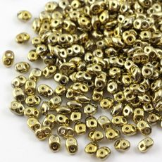 SuperDuo 2.5x5mm Crystal Polished Brass [10g]