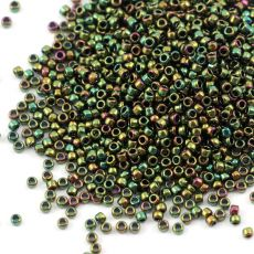 Toho Round 15/0 Higher Metallic Iris Olivine [5g]