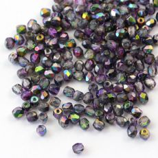 Fire Polish 3mm Crystal Magic Purple [40szt]